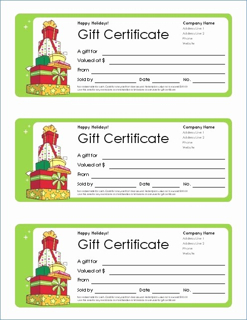 Gift Certificate Template for Mac Best Of Free Printable Gift Certificate Templates for Mac