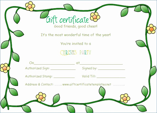 Gift Certificate Template for Mac Elegant Gift Certificate Template for Mac Word