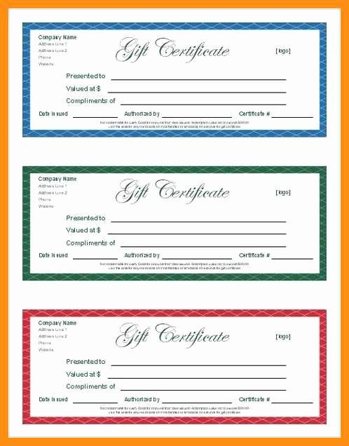 Gift Certificate Template for Mac Fresh 9 10 T Certificate Templates for Pages