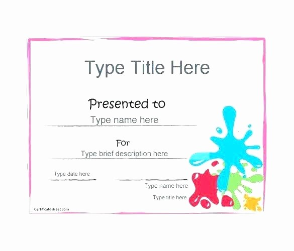 Gift Certificate Template for Mac Lovely T Certificate Template Free Mac – atamvalves