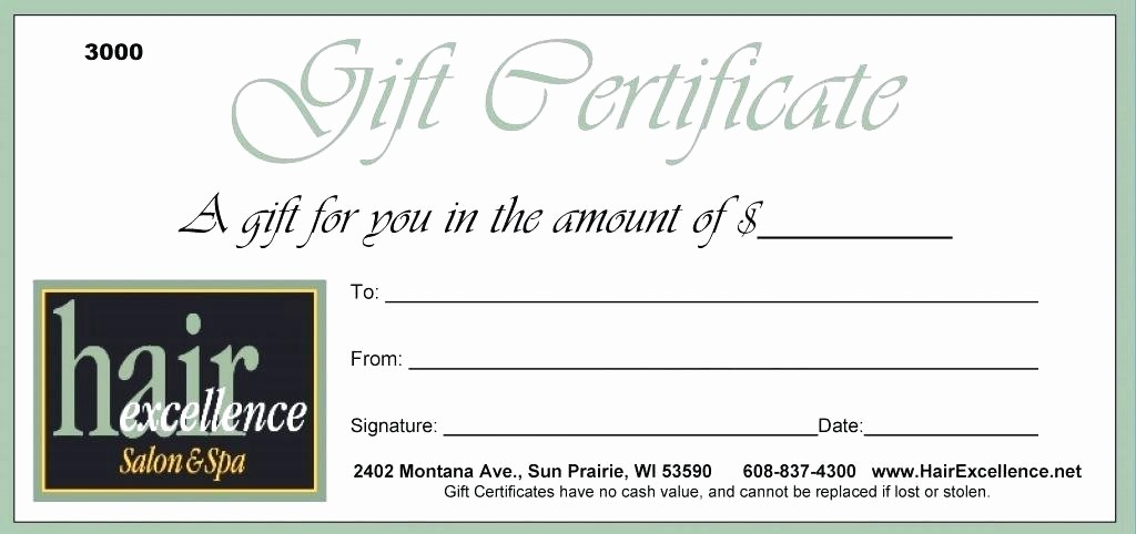 Gift Certificate Template for Mac New Free Christmas Gift Certificate Template Mac