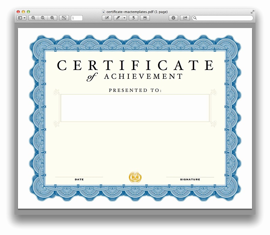 Gift Certificate Template for Mac New T Certificate Template for Apple Mac Certificate