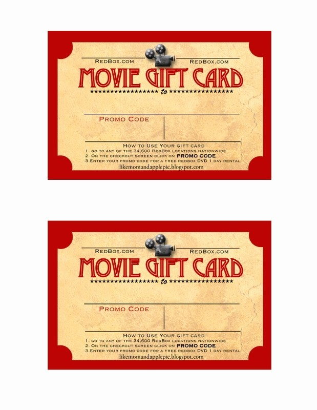 Gift Certificate Template for Mac Unique Movie Gift Certificate Template