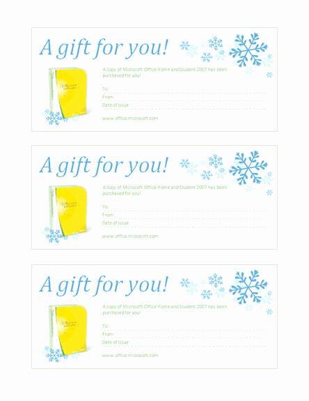 Gift Certificate Template Microsoft Word Beautiful Gift Certificate for Microsoft Fice Home and Student