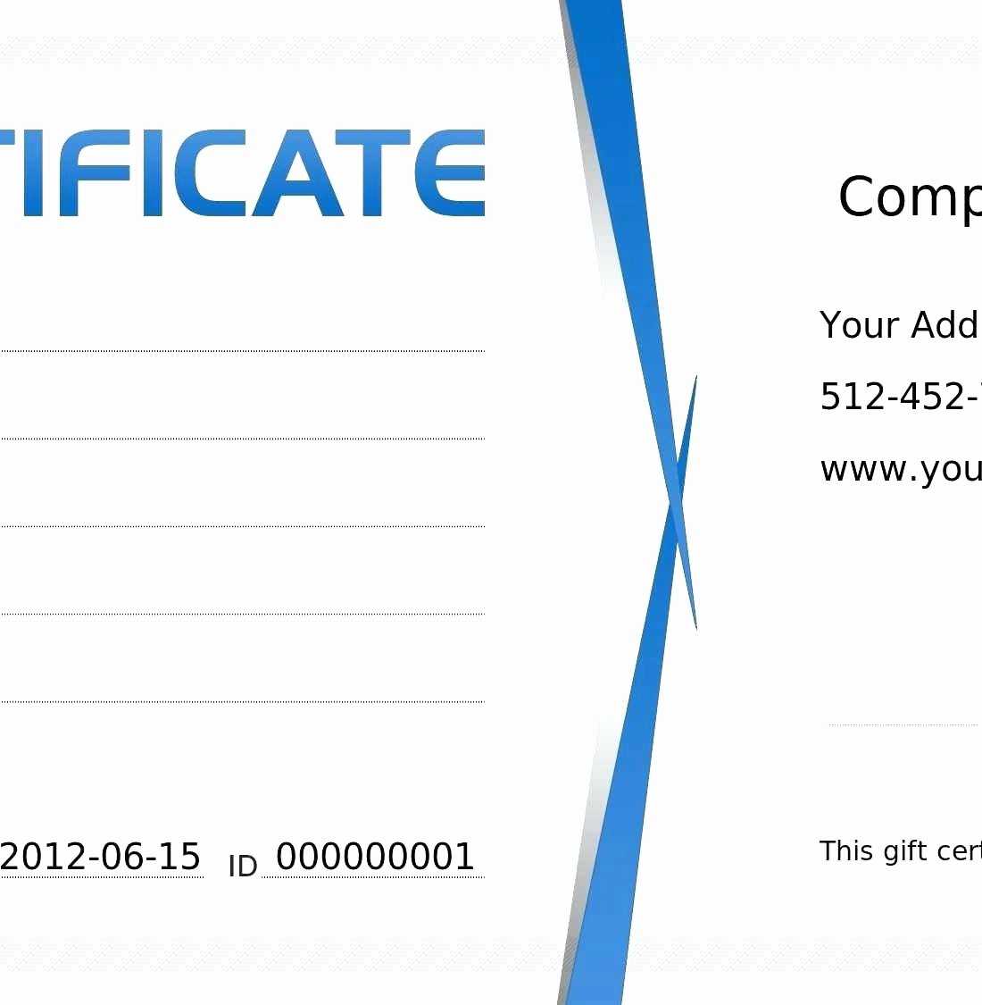 Gift Certificate Template Microsoft Word Beautiful Template Gift Certificate Template Microsoft Word