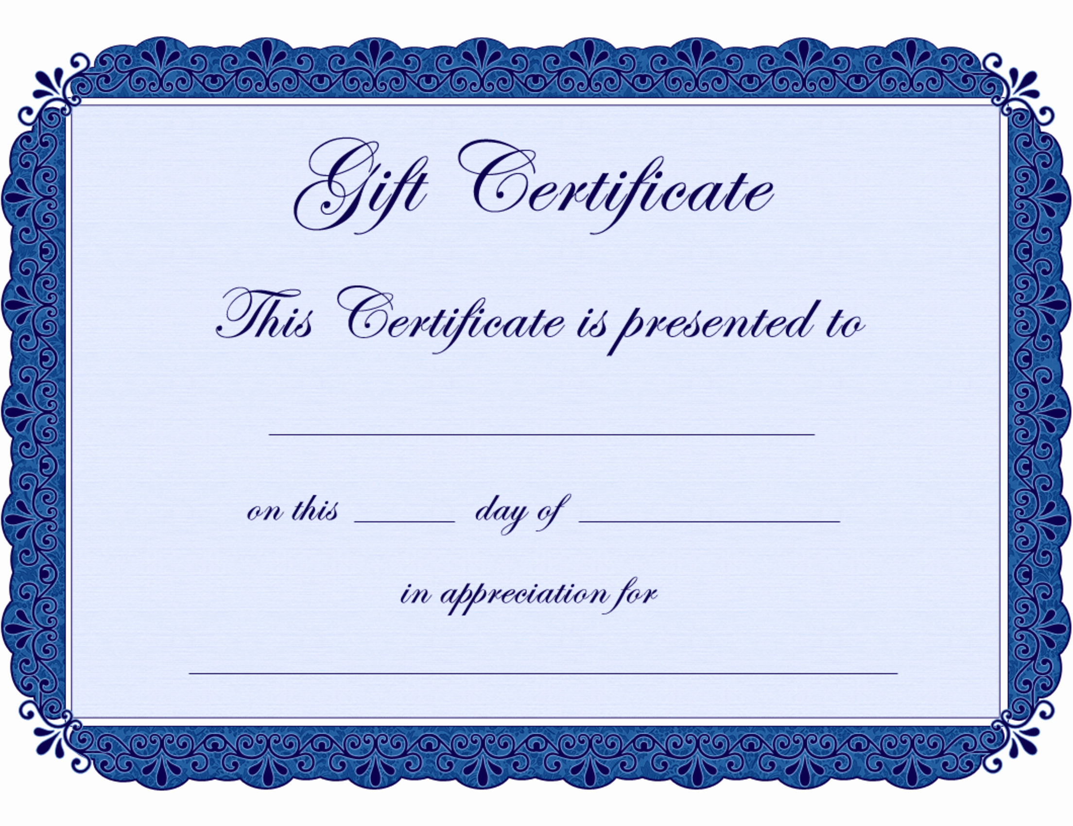 Gift Certificate Template Microsoft Word Elegant Free Certificate Borders for Word Clipart Best