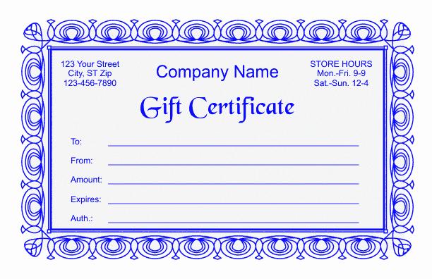 Gift Certificate Template Microsoft Word Fresh Gift Certificate Template 2