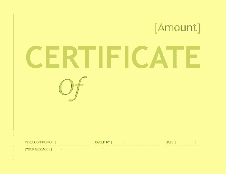 Gift Certificate Template Microsoft Word Inspirational Gift Certificate Template Word 2016 Free Certificate