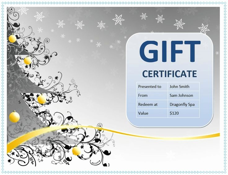 Gift Certificate Template Microsoft Word Lovely 25 Best Gift Certificate Template Word Ideas On Pinterest