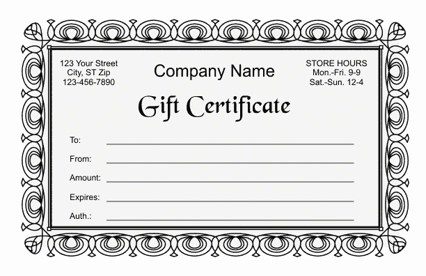 Gift Certificate Template Microsoft Word Lovely Gift Certificate Template 2