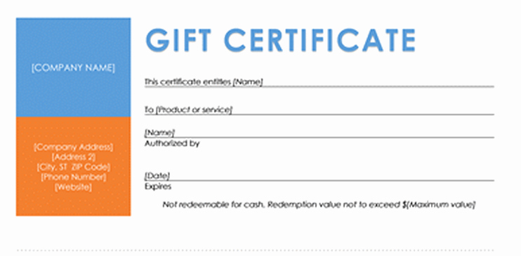 Gift Certificate Template Microsoft Word Luxury Travel Certificate Template Free Travel T Certificate