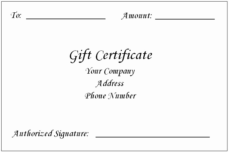 Gift Certificate Template Microsoft Word Unique Gift Certificate Template Word