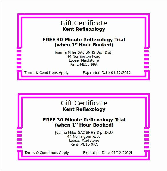 Gift Certificate Templates Free Printable Awesome Gift Certificate Template 42 Examples In Pdf Word In