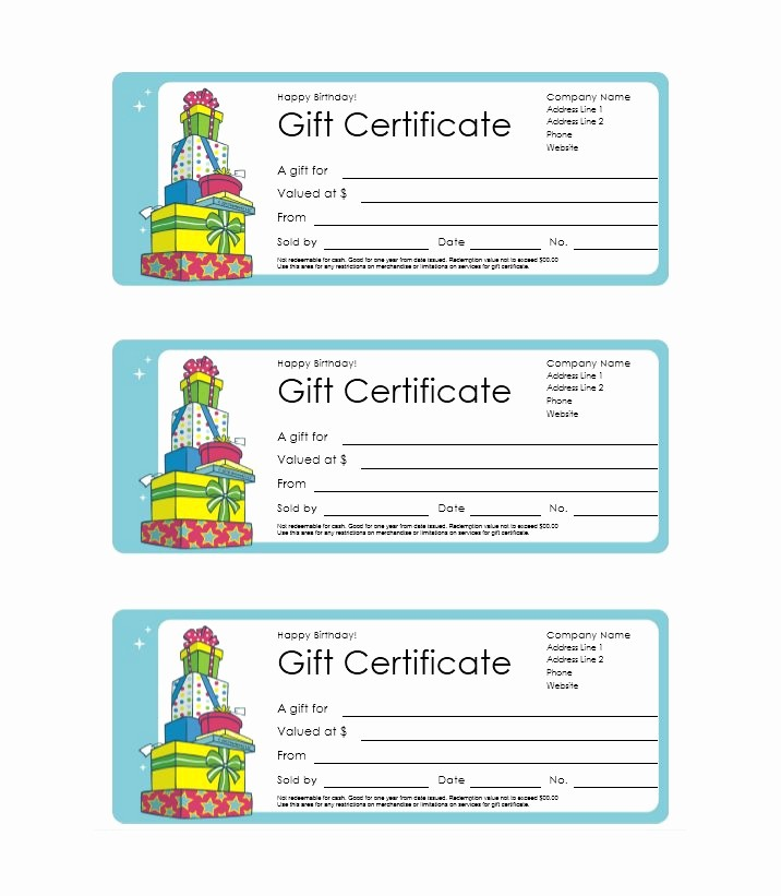 Gift Certificate Templates Free Printable Best Of 41 Free Gift Certificate Templates Free Template Downloads