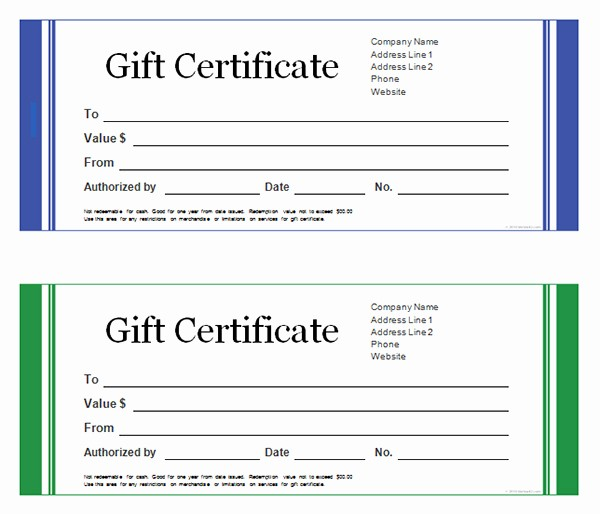 Gift Certificate Templates Free Printable Inspirational Printable Gift Certificate Templates