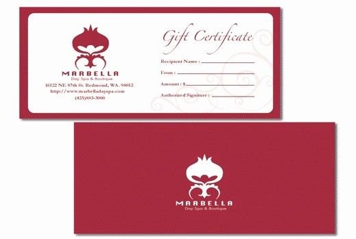 Gift Certificates for Small Business Awesome Business Gift Certificates Uprinting