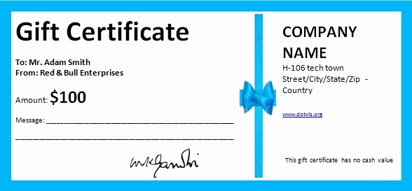 Gift Certificates for Small Business Beautiful T Certificates