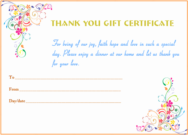 Gift Certificates for Small Business Elegant Certificate Templates
