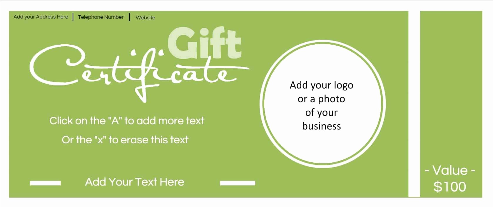 Gift Certificates for Small Business Inspirational Gift Certificate Template with Logo