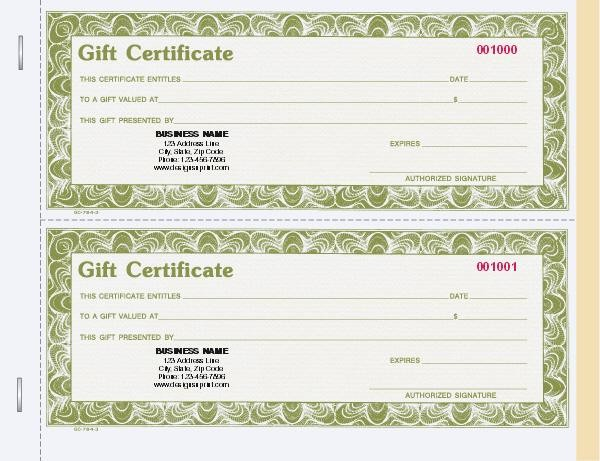 Gift Certificates for Small Business Lovely Custom Gift Certificate Books Stub Carbon Copy Snap