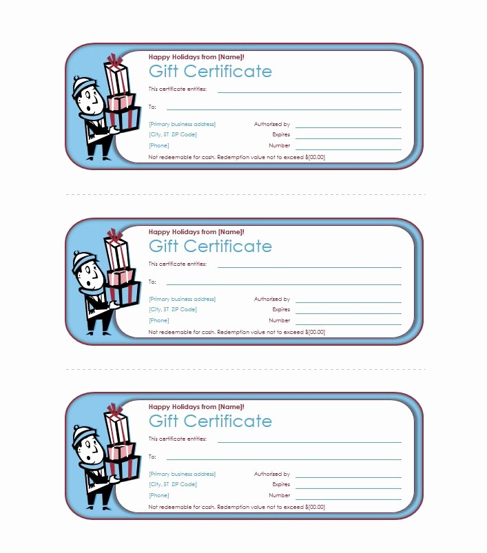 Gift Certificates for Small Business Luxury 40 Free Gift Certificate Templates Template Lab