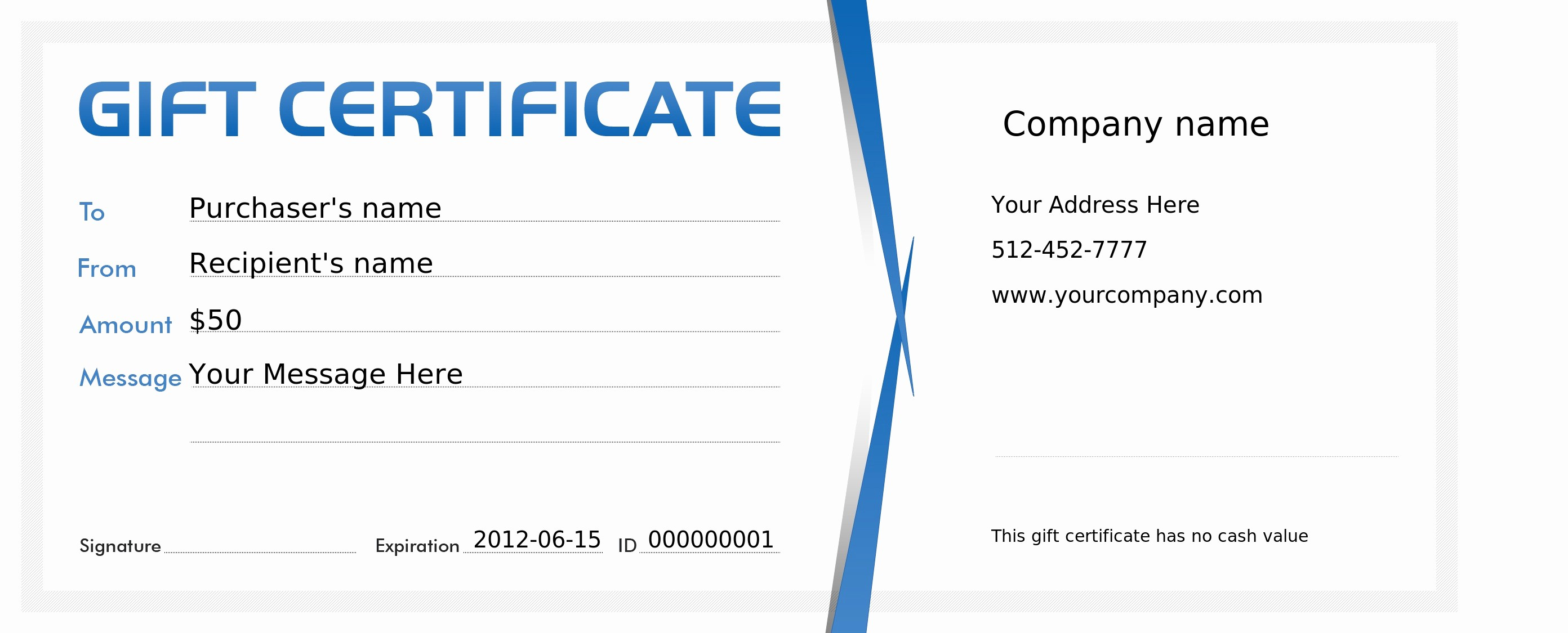 Gift Certificates for Small Business Luxury Free Business Gift Certificate Template