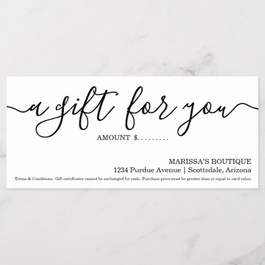Gift Certificates for Small Business New Business Gift Certificate Simply Right
