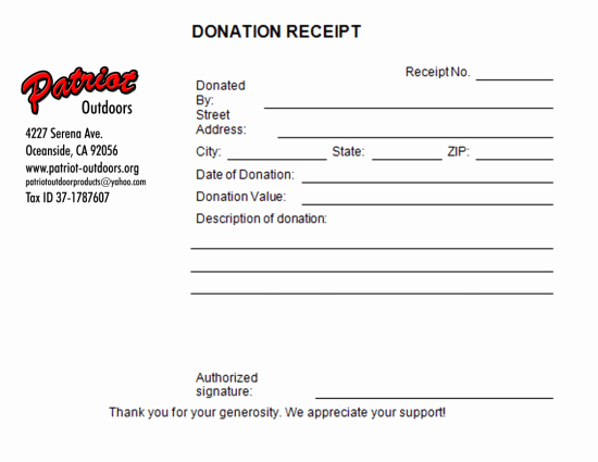 Gift In Kind Receipt Template Elegant 5 Charitable Donation Receipt Templates Free Sample