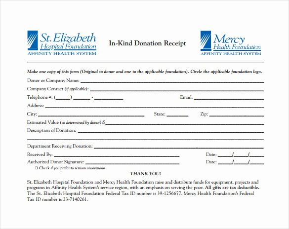 Gift In Kind Receipt Template Fresh 23 Donation Receipt Templates – Pdf Word Excel Pages