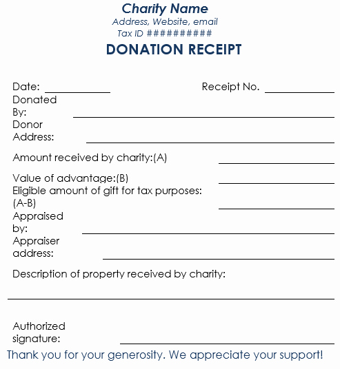 Gift In Kind Receipt Template Inspirational Donation Receipt Template 12 Free Samples In Word and Excel