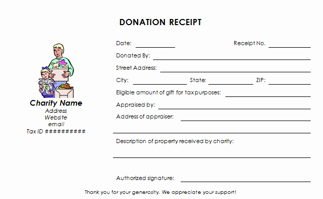 Gift In Kind Receipt Template Luxury Donation Receipt Template