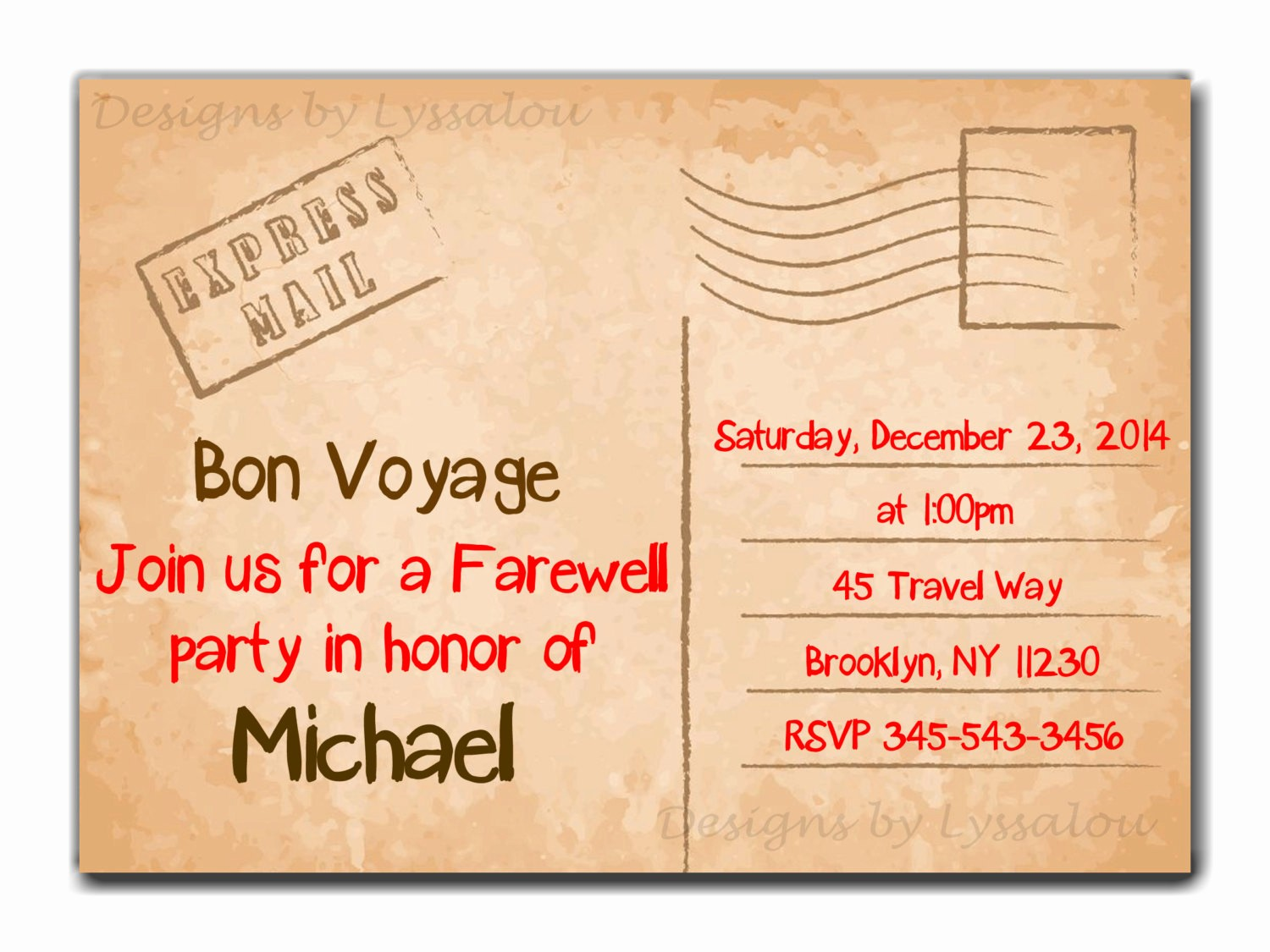 Going Away Flyer Template Free Awesome Travel Farewell Party Invitation Bon Voyage Going Away