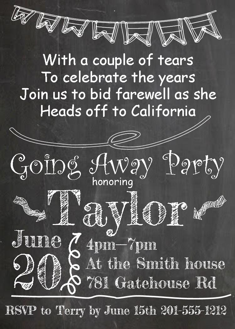 Going Away Flyer Template Free Elegant Going Away Party Invitations New Selections 2017