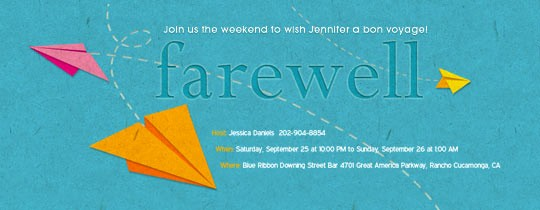 Going Away Flyer Template Free Elegant Retirement Farewell Free Online Invitations