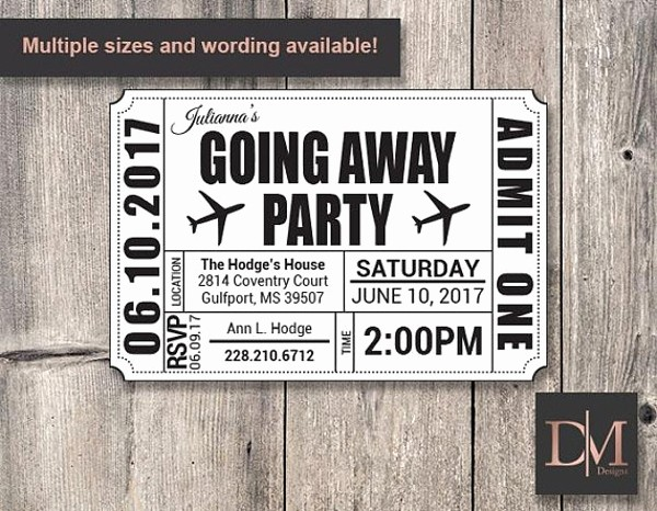Going Away Flyer Template Free Fresh 14 Going Away Party Flyer Designs & Templates Psd Ai