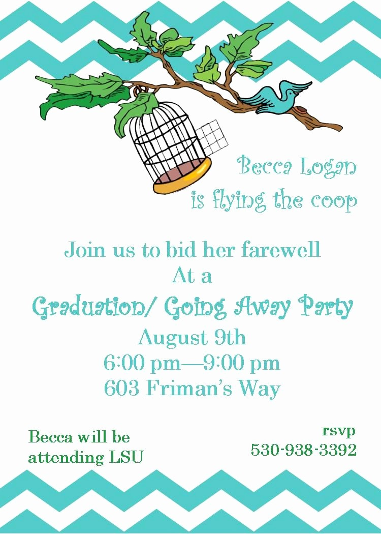 Going Away Flyer Template Free Fresh Going Away Party Invitations Flying the Coop