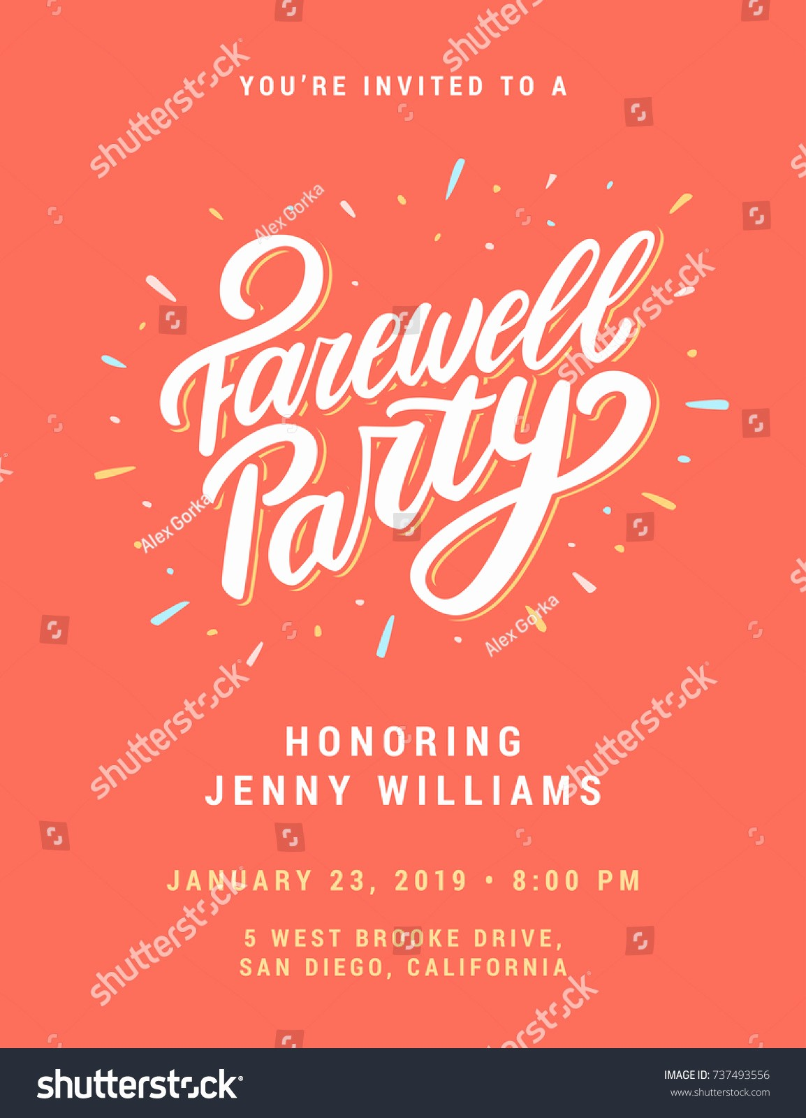 Going Away Flyer Template Free Lovely Farewell Party Invitation Template Stock V Free
