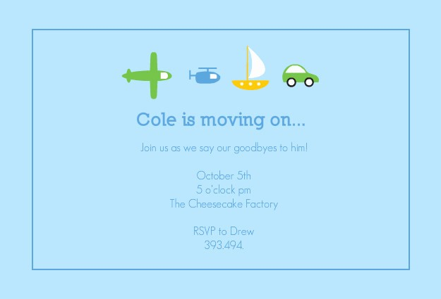 Going Away Flyer Template Free Lovely Going Away Party Invitation Template