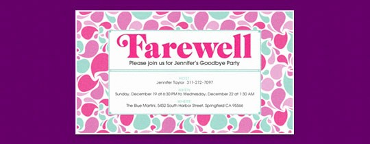 Going Away Flyer Template Free Lovely Retirement Farewell Free Online Invitations
