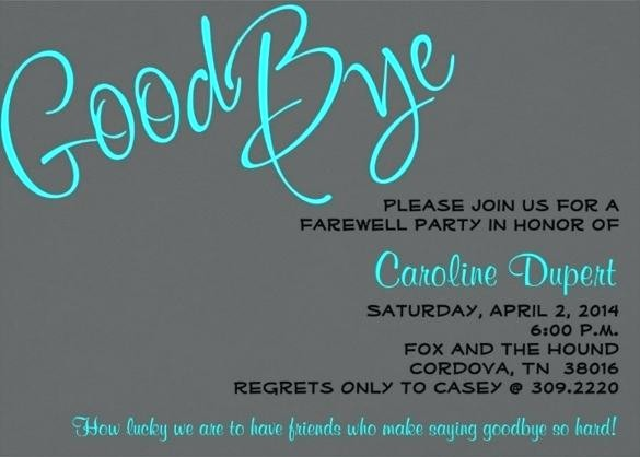Going Away Flyer Template Free Luxury Farewell Card Template Printable Unique Ideas Cards