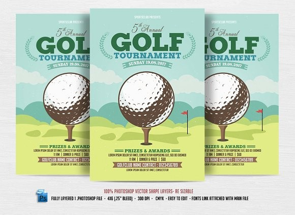 Golf tournament Flyer Template Word Awesome Golf tournament Flyer Flyer Templates Creative Market
