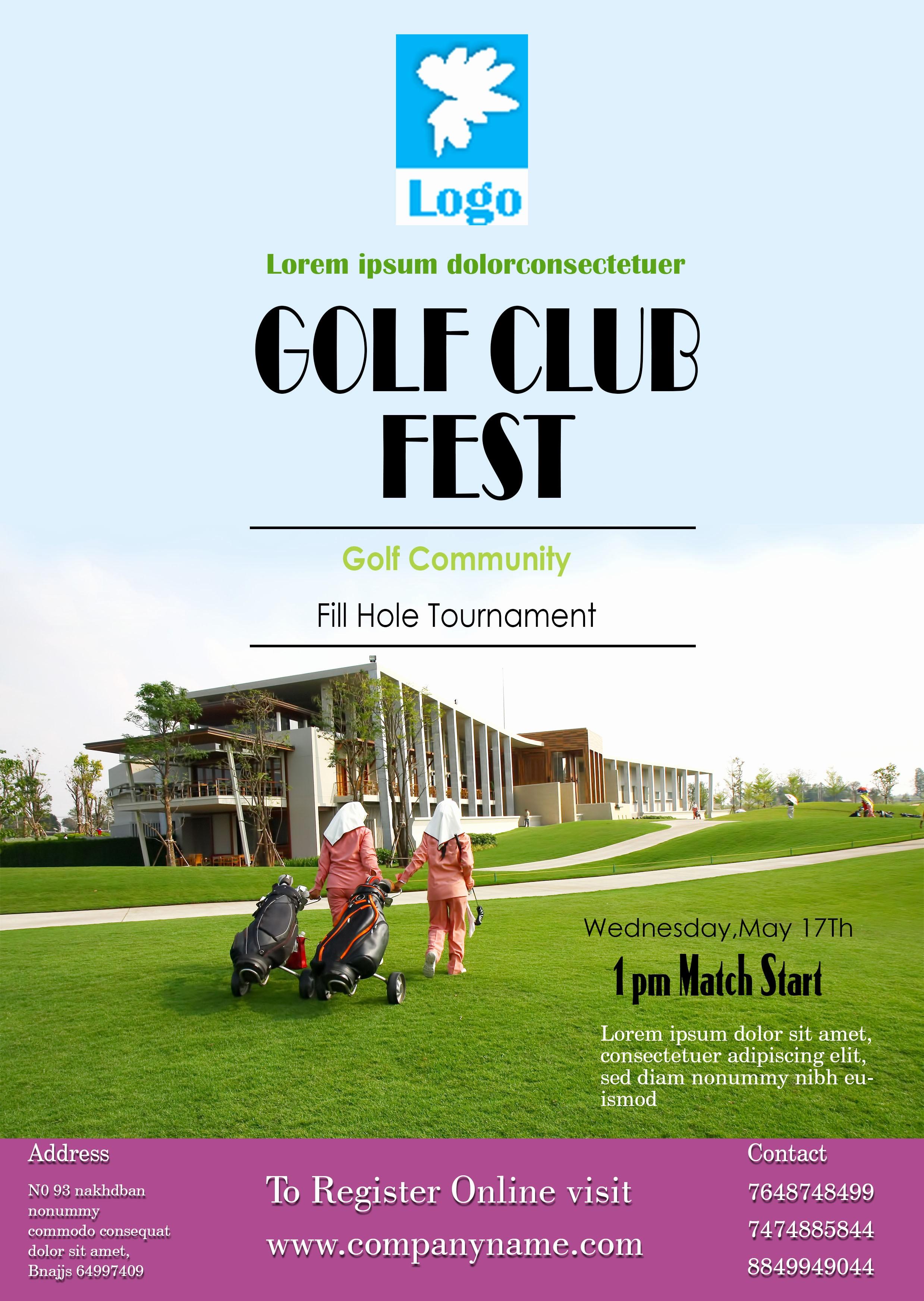 Golf tournament Flyer Template Word Best Of 15 Free Golf tournament Flyer Templates Fundraiser