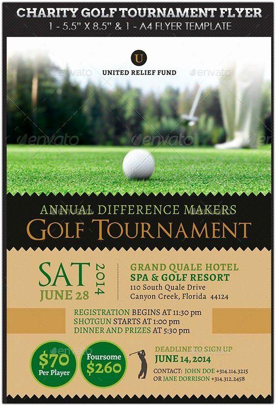 Golf tournament Flyer Template Word Best Of Charity Golf tournament Flyer Hd 2