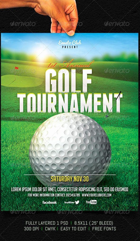 Golf tournament Flyer Template Word Best Of Golf tournament Flyer Graphicriver Fully Layered 1 Psd