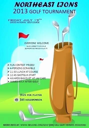 Golf tournament Flyer Template Word Elegant Golf Scramble Flyer Template – Buildingcontractor