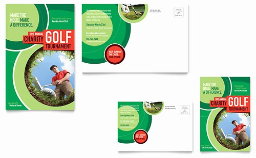 Golf tournament Flyer Template Word Elegant Golf tournament Flyer & Ad Template Word & Publisher