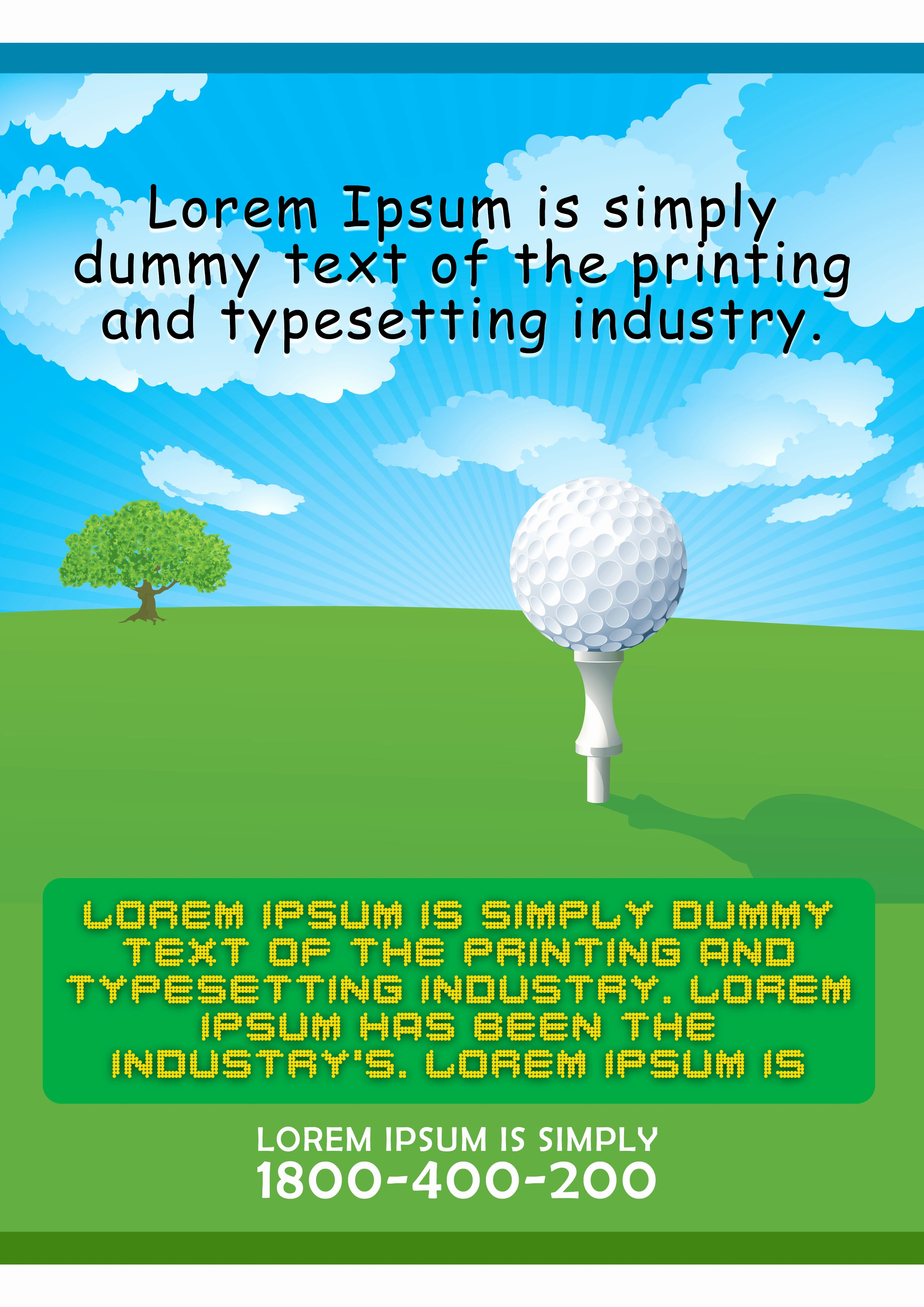 Golf tournament Flyer Template Word Fresh 15 Free Golf tournament Flyer Templates Fundraiser