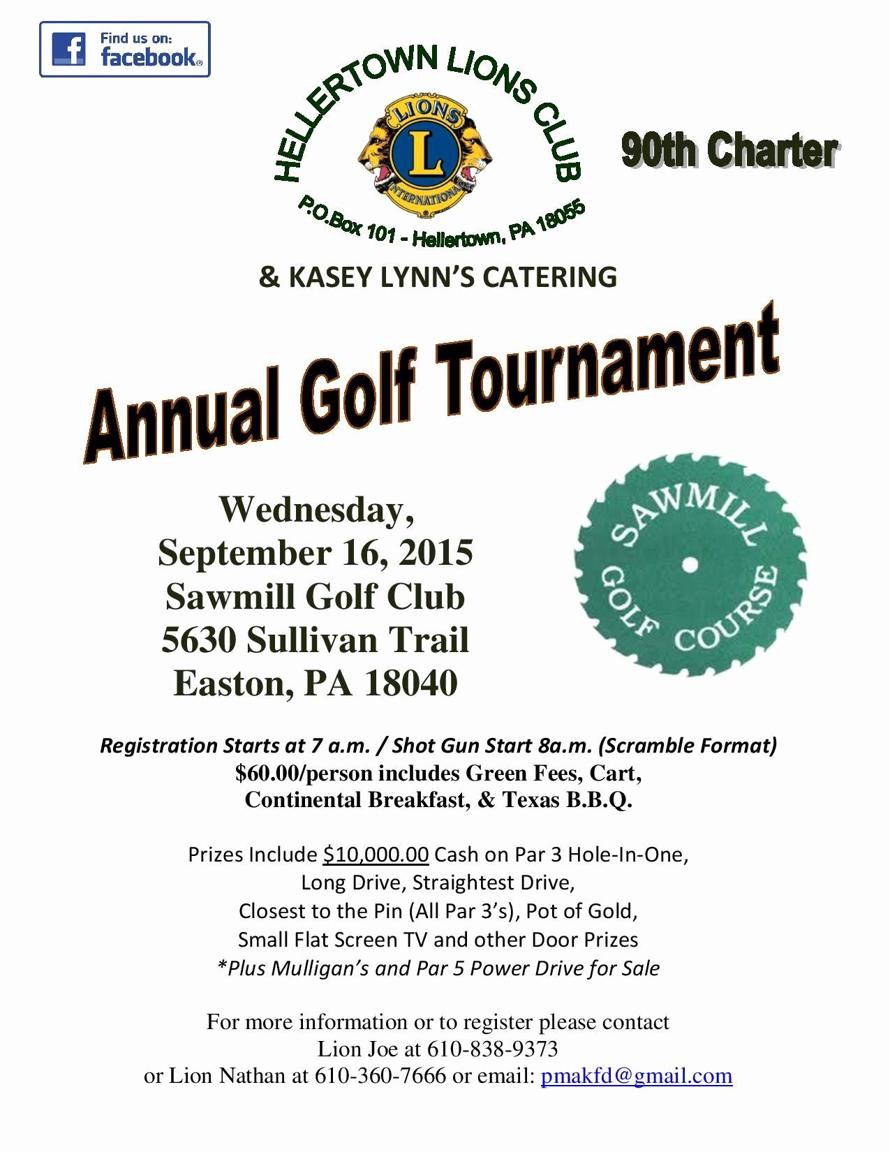 Golf tournament Flyer Template Word Fresh Hellertown Lions Club Annual Golf tournament