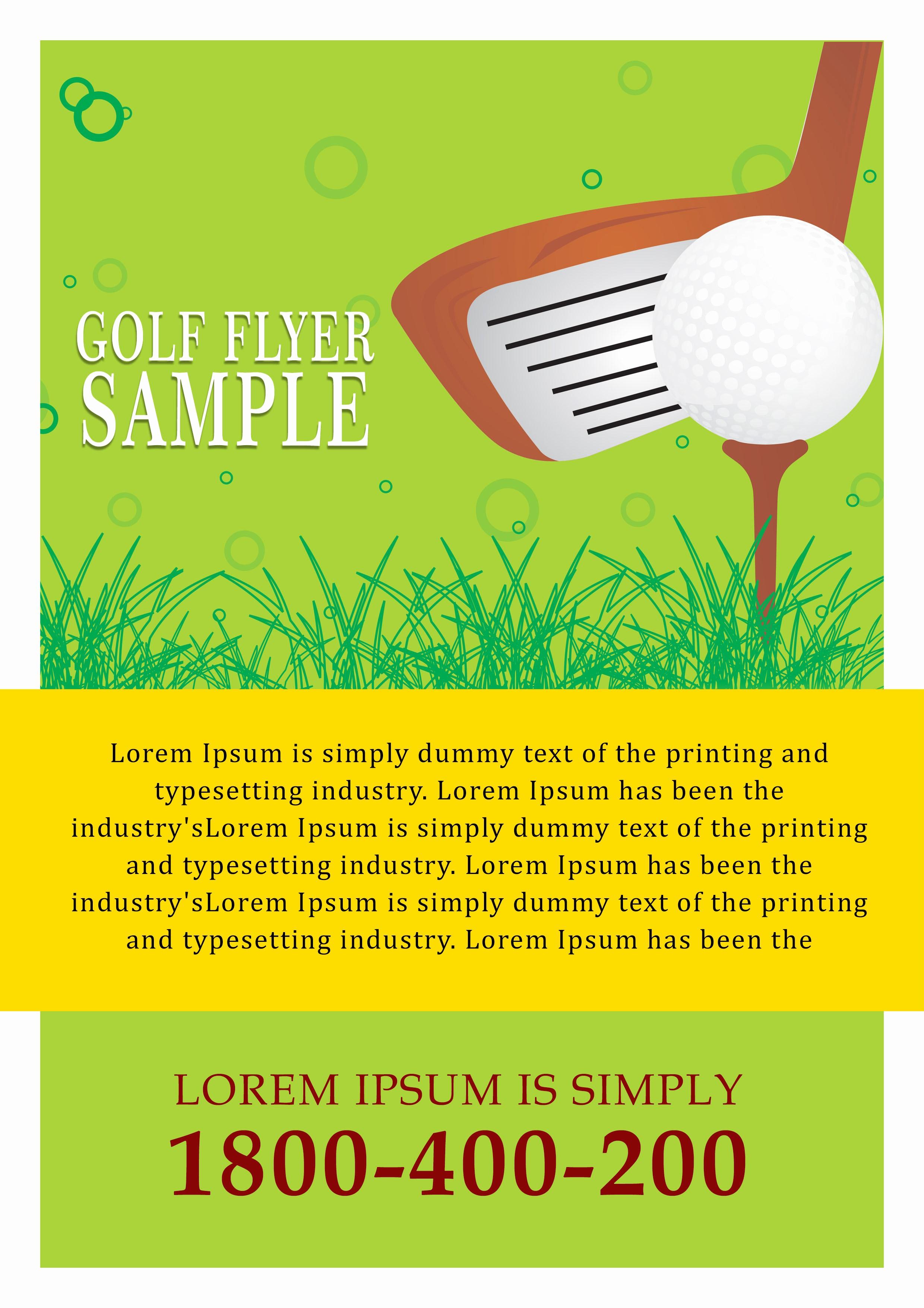 Golf tournament Flyer Template Word Inspirational 15 Free Golf tournament Flyer Templates Fundraiser