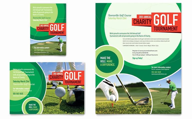 Golf tournament Flyer Template Word Inspirational Golf tournament Flyer & Ad Template Word & Publisher